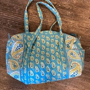 Vera Bradley small blue and green paisley duffel